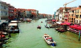 Groot Kanaal in Venetië stock afbeeldingen