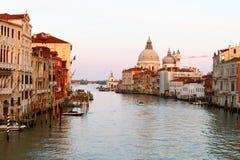 Groot kanaal in Venetië. Royalty-vrije Stock Foto