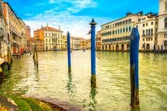 Groot kanaal, Venetië, Italië royalty-vrije stock afbeeldingen