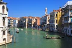 Groot Kanaal in Venetië, Italië Stock Foto