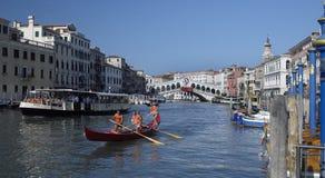 Groot Kanaal - Venetië - Italië Stock Foto's