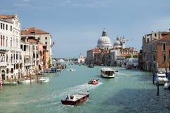 Groot Kanaal in Venetië, Italië Stock Foto's