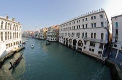 Groot kanaal Venetië, Italië Royalty-vrije Stock Foto's