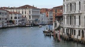 Groot Kanaal in Venetië, Italië stock videobeelden