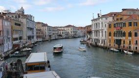 Groot Kanaal in Venetië, Italië stock footage