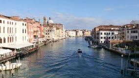 Groot Kanaal in Venetië, Italië stock video