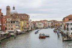 Groot Kanaal in Venetië Italië Stock Afbeeldingen