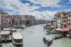 Groot Kanaal in Venetië Italië stock foto