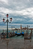 Groot Kanaal in Venetië op een bewolkte dag. Royalty-vrije Stock Foto