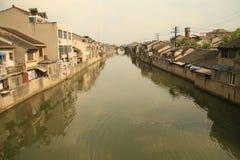 Groot Kanaal Wuxi Stock Afbeelding