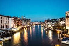 Groot Kanaal in zonsondergangtijd, Venetië Stock Afbeelding