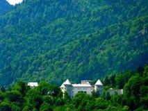 Groot kasteel in het midden van een bebost gebied in zuidelijk Duitsland 2 stock fotografie