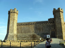 Groot kasteel naast Venetië, Italië Stock Foto