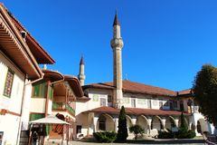 Groot Khan Mosque in Bakhchisaray-Paleis stock fotografie