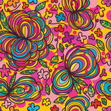 Groot klein de bloem naadloos patroon van de bloemvriend Royalty-vrije Stock Afbeeldingen