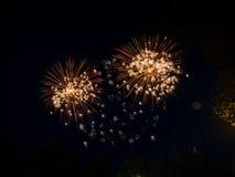 Groot kleurrijk vuurwerk Royalty-vrije Stock Afbeelding