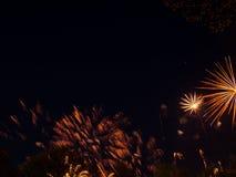 Groot kleurrijk vuurwerk Stock Foto's