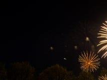 Groot kleurrijk vuurwerk Stock Foto