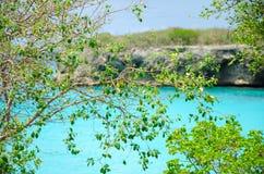 Groot Knip-Strand in Curacao in de Nederlandse Antillen royalty-vrije stock afbeeldingen