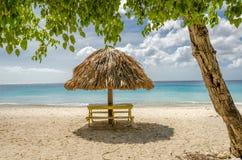 Groot Knip-Strand in Curacao in de Nederlandse Antillen royalty-vrije stock foto