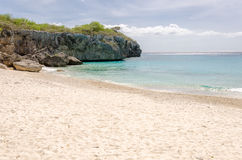 Groot Knip-Strand in Curacao in de Nederlandse Antillen royalty-vrije stock foto's