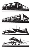 Groot ladingsvervoer Stock Foto's