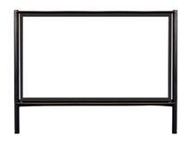 Groot leeg aanplakbord op twee die pijlers op wit worden geïsoleerd Stock Foto's