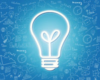 Groot lightbulbpictogram Stock Afbeelding