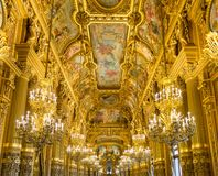 Groot Loungepalais garnier, Opera Parijs Frankrijk stock foto