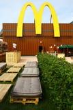 Groot M van McDonald's op zijn pavillion in Expo 2015, Milaan Royalty-vrije Stock Afbeeldingen