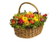 Groot mandhoogtepunt van groenten Royalty-vrije Stock Afbeelding