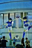 Groot Manga Soccer Player Statues Stock Foto's