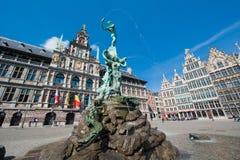 Groot Marktvierkant van Antwerpen Royalty-vrije Stock Foto