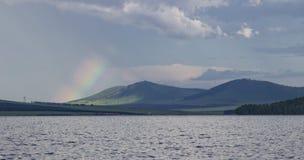 Groot meer in Siberië royalty-vrije stock afbeeldingen