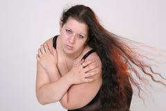Groot meisje in de wind Stock Fotografie