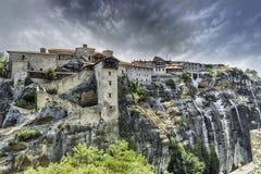 Groot Meteoro-klooster in Meteora, Griekenland stock foto's
