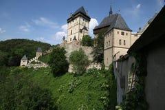 Groot middeleeuws kasteel royalty-vrije stock foto's