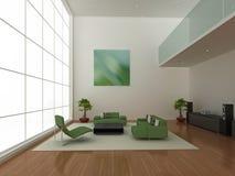 Groot modern binnenland Stock Foto's