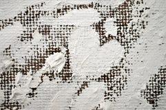 Groot mooi wit die hart met olieverven wordt geschilderd Royalty-vrije Stock Fotografie