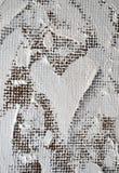 Groot mooi wit die hart met olieverven wordt geschilderd Royalty-vrije Stock Foto