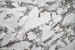 Groot mooi wit die hart met olieverven wordt geschilderd Royalty-vrije Stock Foto's