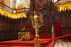 Groot Moskeemezquita binnenland in Cordoba Spanje Royalty-vrije Stock Afbeelding