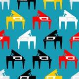 Groot naadloos pianopatroon Muzikale Vectorillustra als achtergrond royalty-vrije illustratie