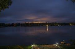 Groot Nellie Lake Nighttime Royalty-vrije Stock Foto's