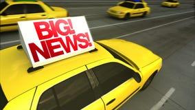 Groot Nieuws! Raad van het taxi de Adverterende Bericht (Lijn) stock illustratie
