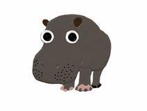 Groot nijlpaard stock foto