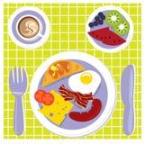 Groot ontbijt stock illustratie