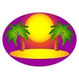 Groot ontwerp van het eiland voor reis en vakantie Stock Foto