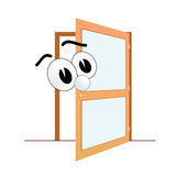 Groot oog en de open vector van de deurkunst Stock Fotografie