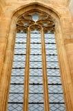 Groot oud venster royalty-vrije stock fotografie